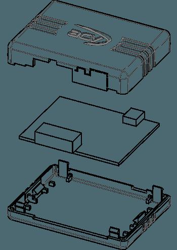 CAD Zeichnung Elektronik Automobilzubehör