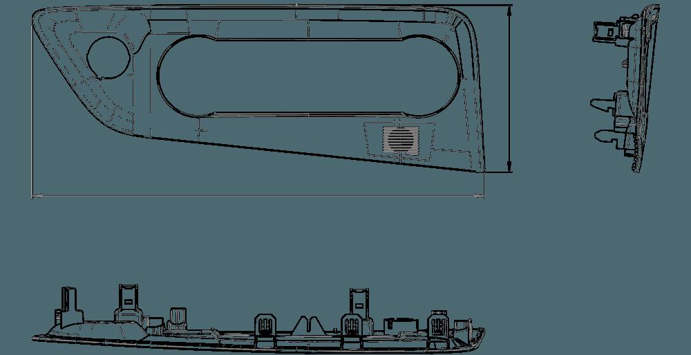 CAD Zeichnung Fahrzeugbedienelemente