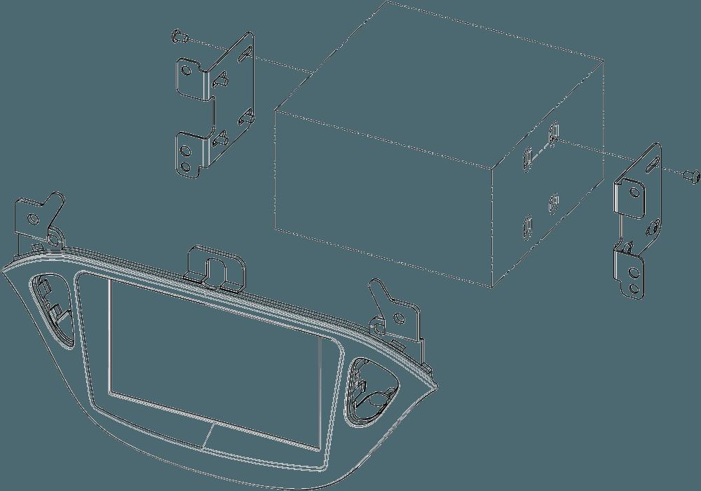 CAD-Zeichnung Radioblende